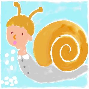 イラスト日記-かたつむりは卵をどこから産むか-子育て、絵本、読書、読み聞かせ、幼児