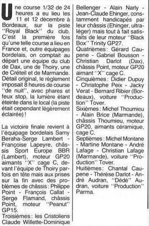 Article de Didier Moret dans AutoRCM