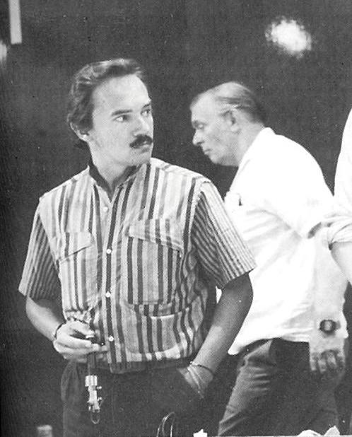 Giovanni Montiglio, co vainqueur de l'épreuve de Nassau à Anvers en 1985.  à l'arrière plan Fritz Mattern