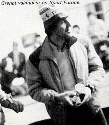 Philippe Grenet vainqueur en Sport-Europe Grand Prix de Thoiry 1982