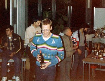 Alain Narcy, Didier Moret et au premier plan avec son beau pull over Ian Barker.