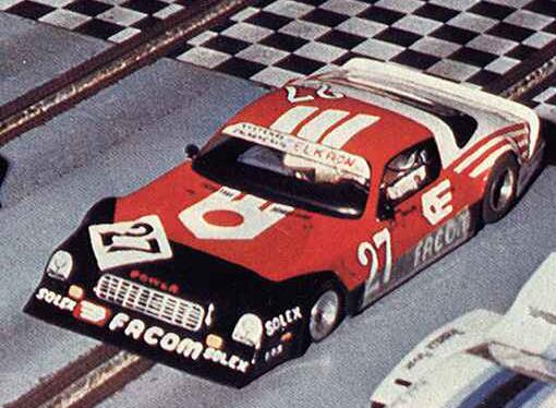 La Camaro de Jean-Pierre Jarier ?  Non. Une slot car de production de Pierre Engels à Thoiry en 1985.