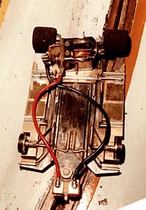 Le châssis Éhinger-EXA de l'équipe du Slot Racing Club de Thoiry