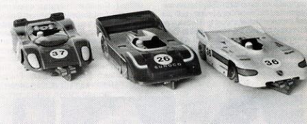 Chassis 1/32 ProSlot Mk 2 sous carrosseries CanAm. Valkenburg 1986