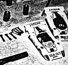 La Jaguar XJR6 de l'équipe de Bordeaux aux 24 heures de Mollerusa 1986