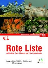 Rote Liste gefährdeter Tiere, Pflanzen und Pilze Deutschlands  Band 6: Pilze (Teil 2) – Flechten und Myxomyzeten