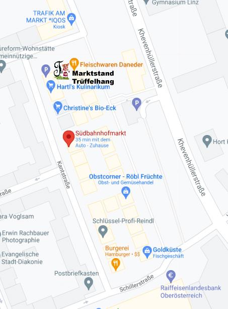 Standort Südbahnhofmarkt Linz Markstand Trüffelhang