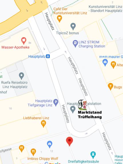 Standort Hauptplatz Bauernmarkt  Linz Markstand Trüffelhang