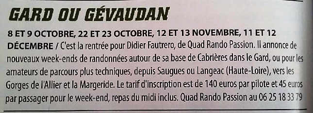 QUAD PASSION MAGAZINE OCTOBRE 2016