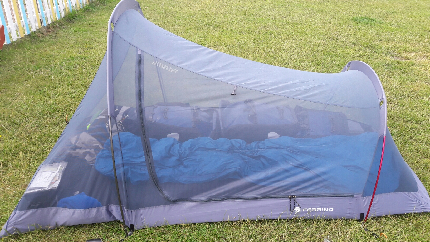 So sieht mein Zelt gefüllt aus