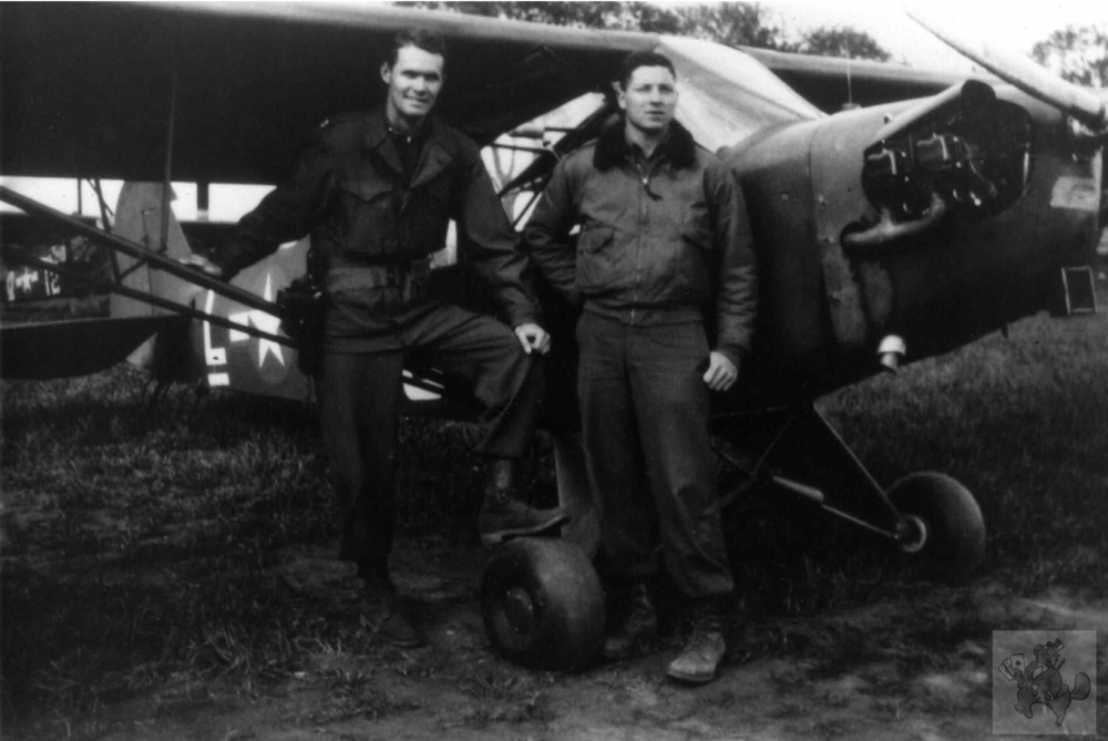 Dick Taylor, Fletcher Rush, L-4, Germany, 1945