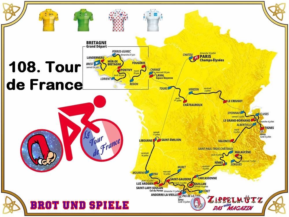 Heute startet die 108. Ausgabe der Tour de France