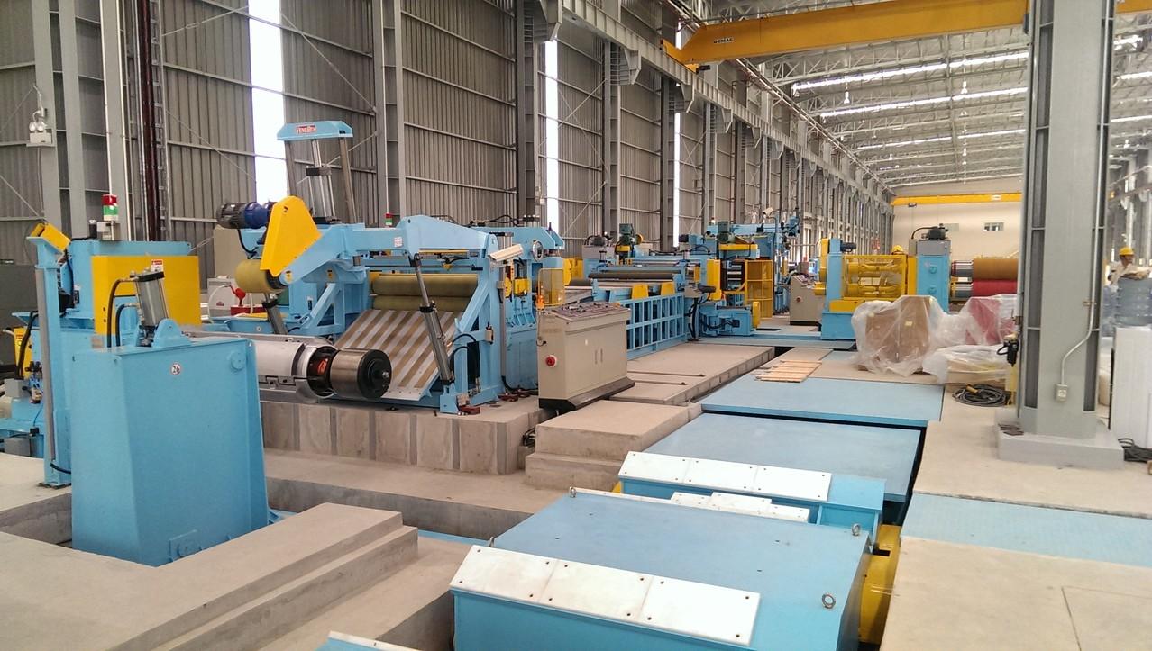 Slitter line shear line facility
