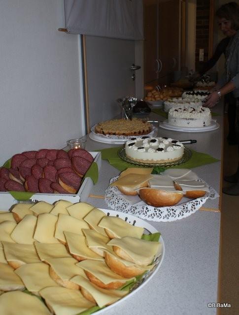 Das Kuchenbuffet ...
