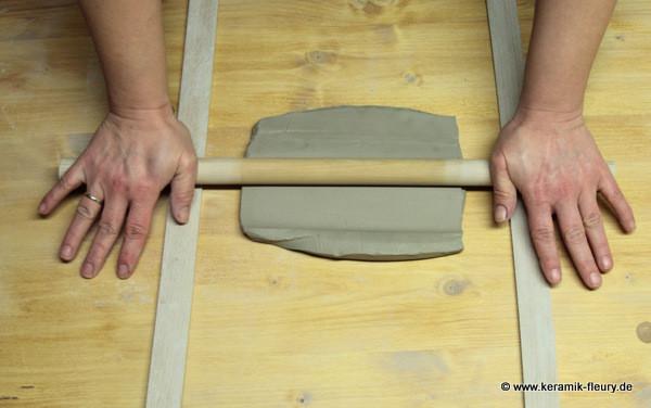 Töpfer-DIY: Keramik-Kühlschrankmagnet Schritt2