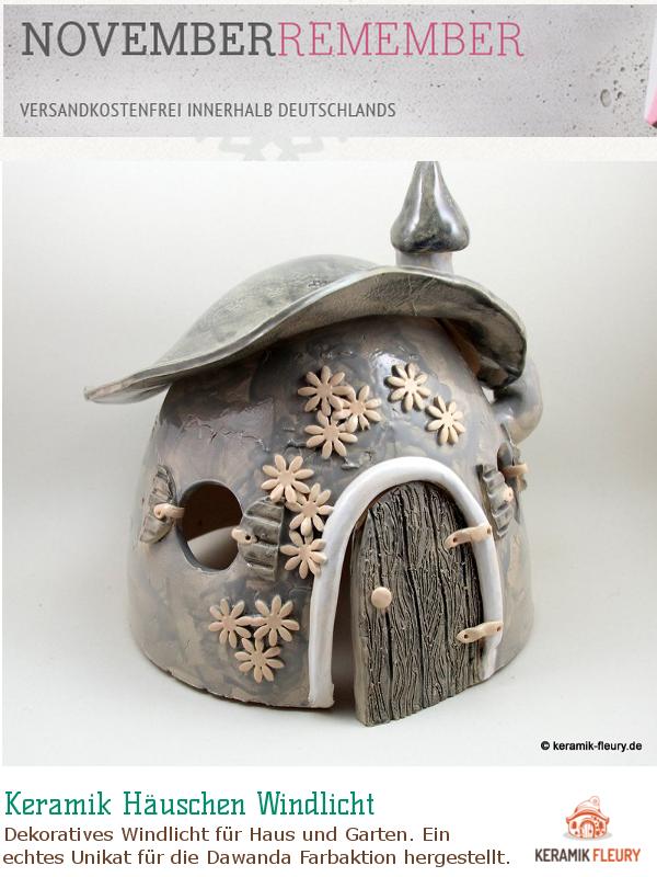 Keramik Windlicht NovemberRember