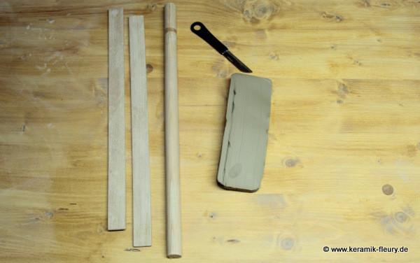 Töpfer-DIY: Keramik-Kühlschrankmagnet Schritt1