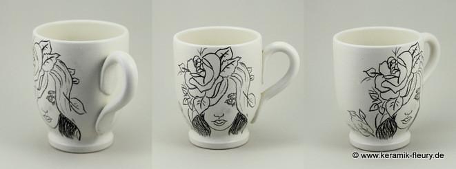 Keramik  Tasse für Dawanda Farbaktion