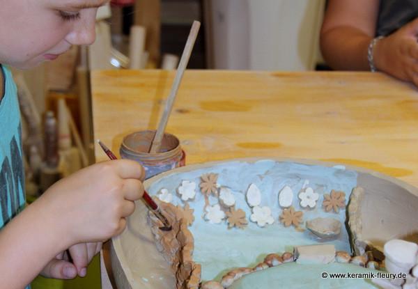 Töpferkurs für Kinder, Sommerferien 2013
