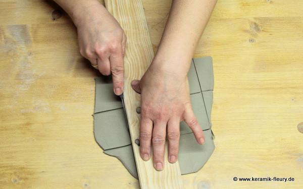 Töpfer-DIY: Keramik-Kühlschrankmagnet Schritt 3