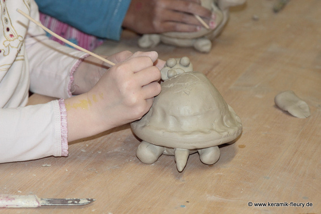 Kindergeburtstag in der Töpferei