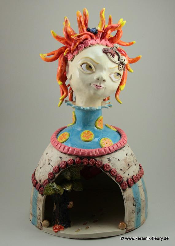 Keramik-Skulptur Steampunk