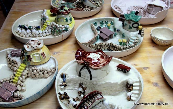Kindertöpferkurse - Miniaturengarten