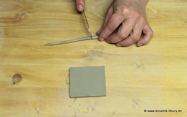 Töpfer-DIY: Keramik-Kühlschrankmagnet Schritt 5