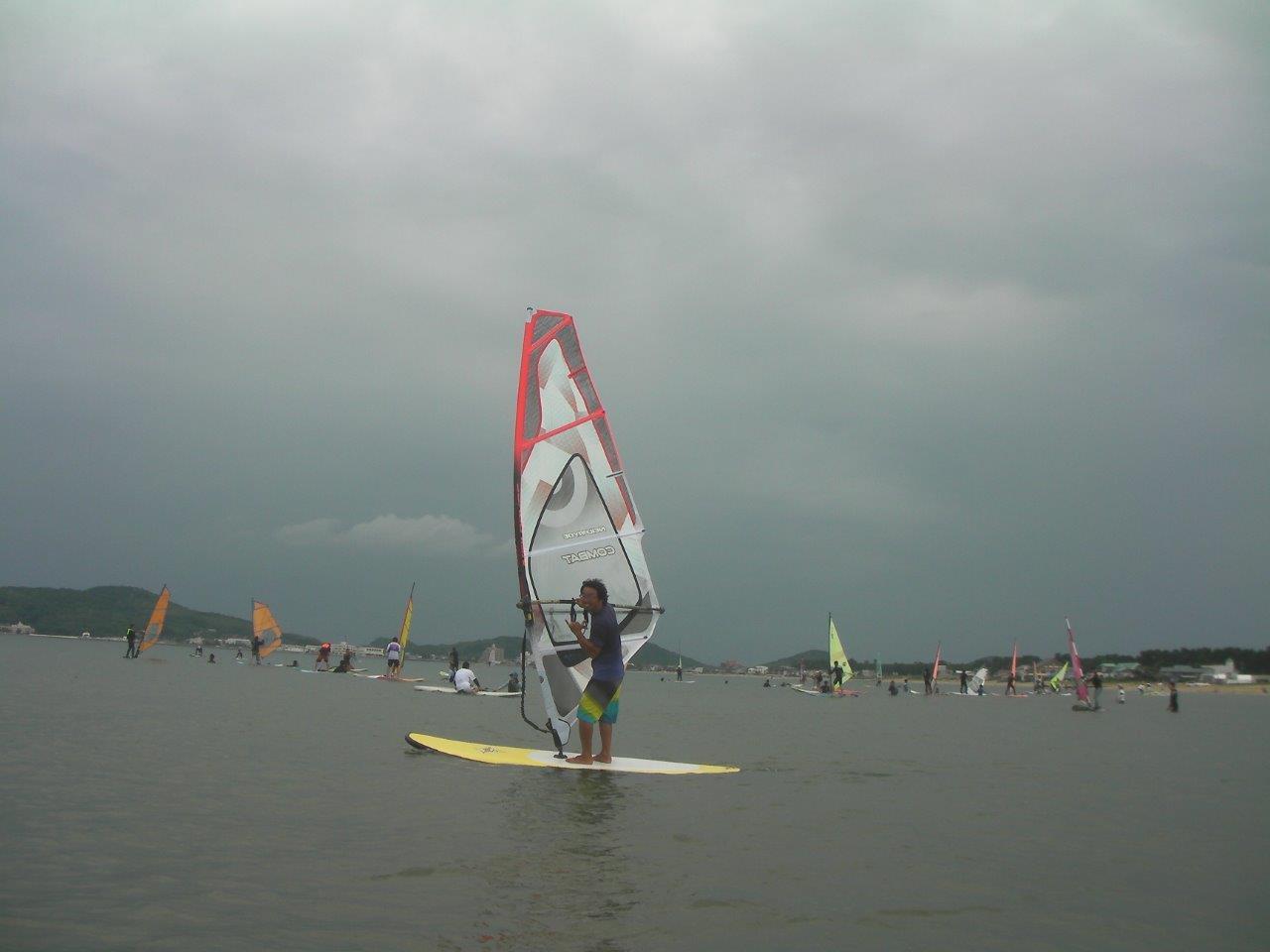 ウインドサーフィン スクール風景
