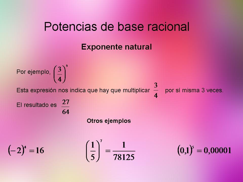 Exponente natural
