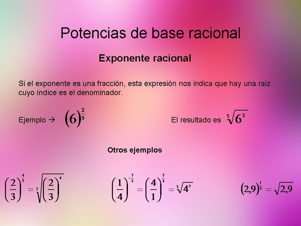 Exponente racional