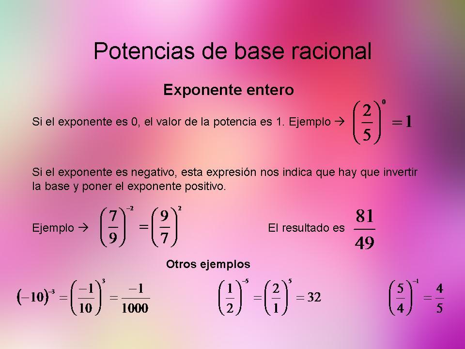 Exponente entero