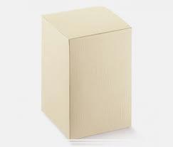 scatole fondo coperchio pieghevoli cartone seta e avorio