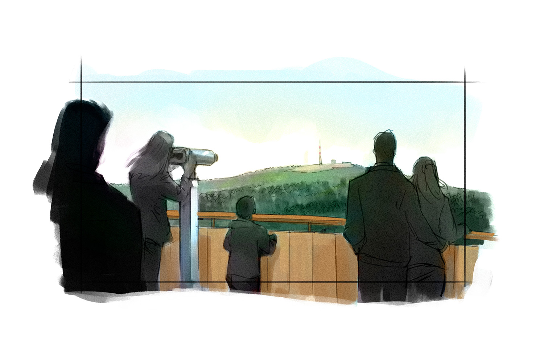 Der Aussichtsturm mit Augmented-Reality-Fernrohren: Überblick über die Luchsverbreitung ...