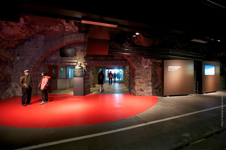 Ankunft auf 3.454 m Höhe über dem Meer: Der neu gestaltete Bahnhof auf dem Jungfraujoch