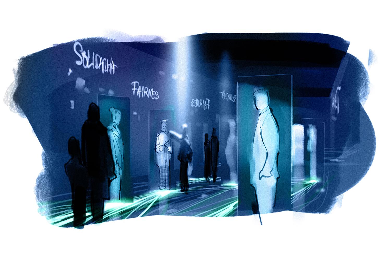 Der Geno-Kosmos – ein lebendiges Netzwerk lässt die Besucher ...