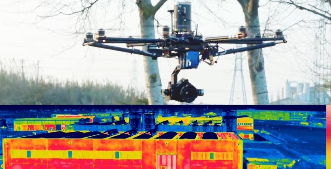 termografia aerea con drone