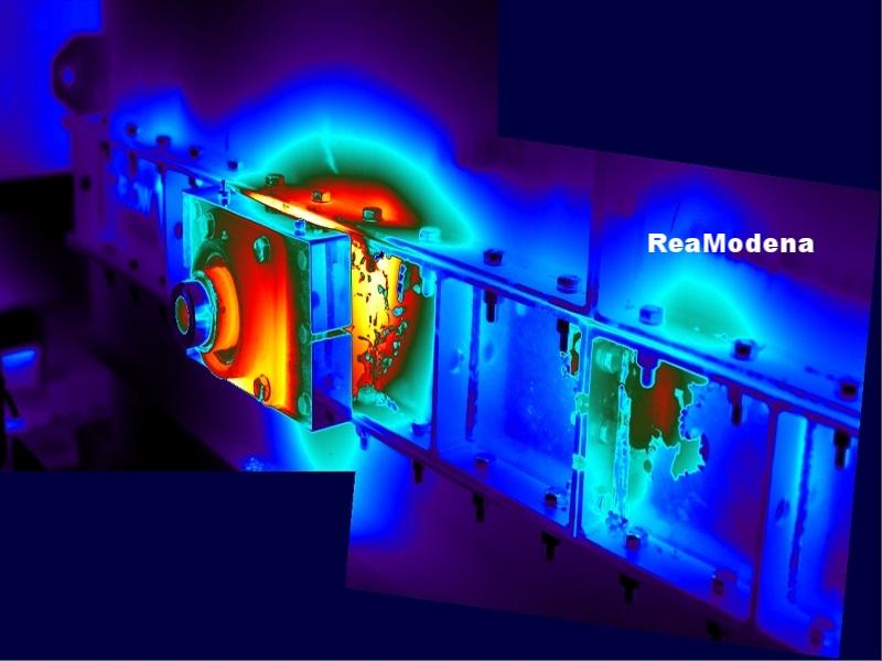 termografia cuscinetti e flange