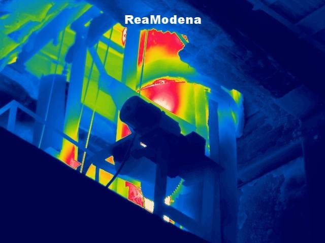 termografia forno refrattario fonderia