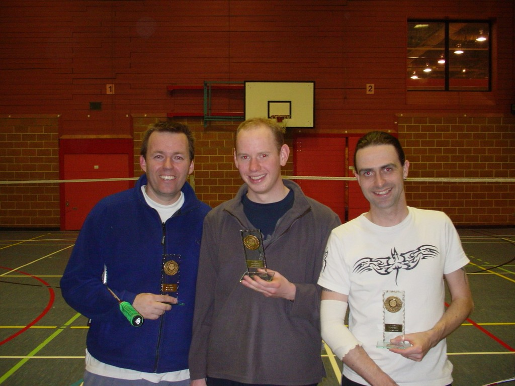 april 2006 - White Cup Final - Gents A winners presentation