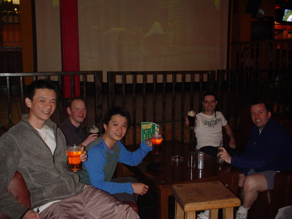 april 2006 - White Cup Final - winners pub party