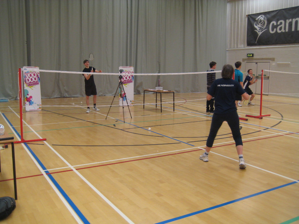 leeds badminton festival - smash speed test