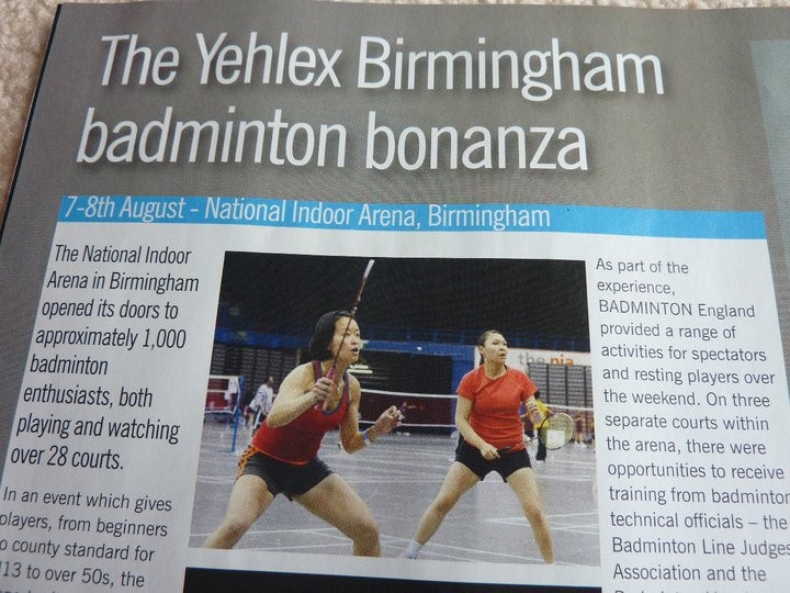 courtside magazine article features Grace & Emma - sept