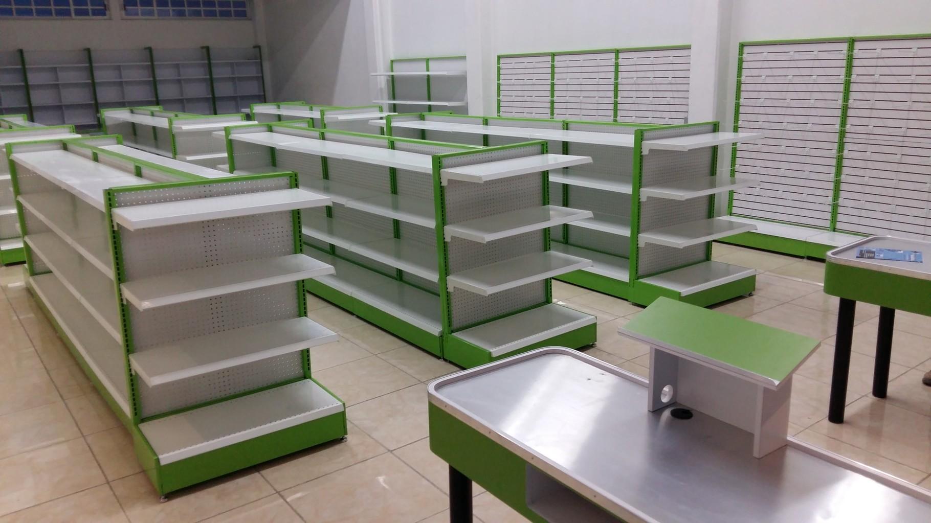 Muebles tipo oxxo vitrinas mostradores estantes for Muebles para almacen