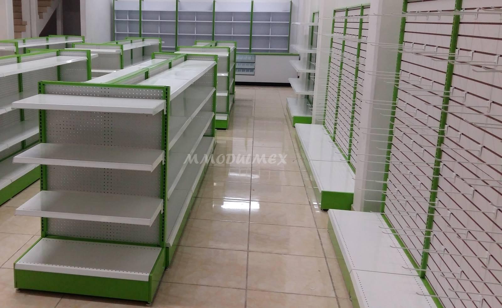 Góndolas metálicas, estantes metálicos,  anaqueles metálicos, góndolas para supermercados