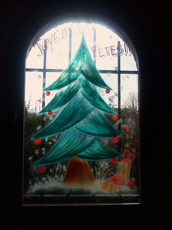 """Les Terres blanches"" à Villaudric - Vitrine de Noël"