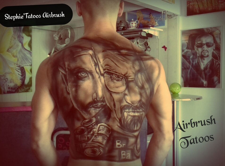 "AIRBRUSH TATOO "" BREAKING BAD""à main levée"