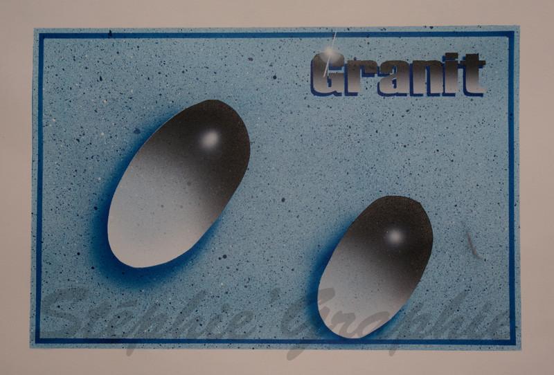 Effet Gouttes et Granit - Sur papier spécial aérographie