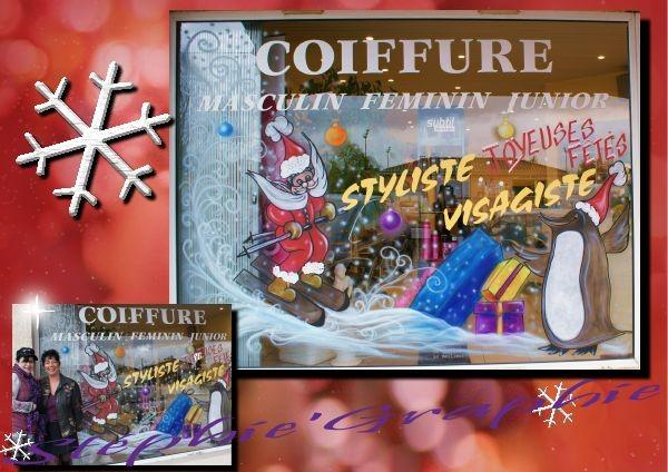"Vitrine de Noel  ""New Styl "" à ST Alban"