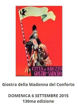 Locandina della Giostra del Saracino che si svolge in Arezzo il 20 Settembre 2015